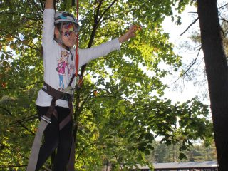 This newbie tries our new ropes course designed specifically for our 4-6 year old campers.