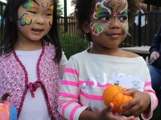 Fall Fest Open House. These cuties look great with their faces painted.